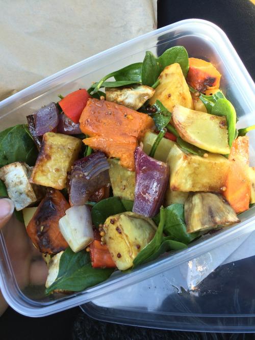 Roast vege salad