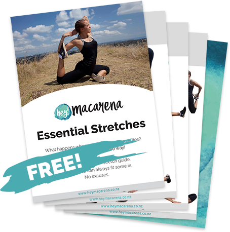 Hey Macarena Essential Stretch Guide - free e-book - download now
