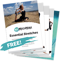Hey Macarena Essential Stretch Guide - free e-book - download now