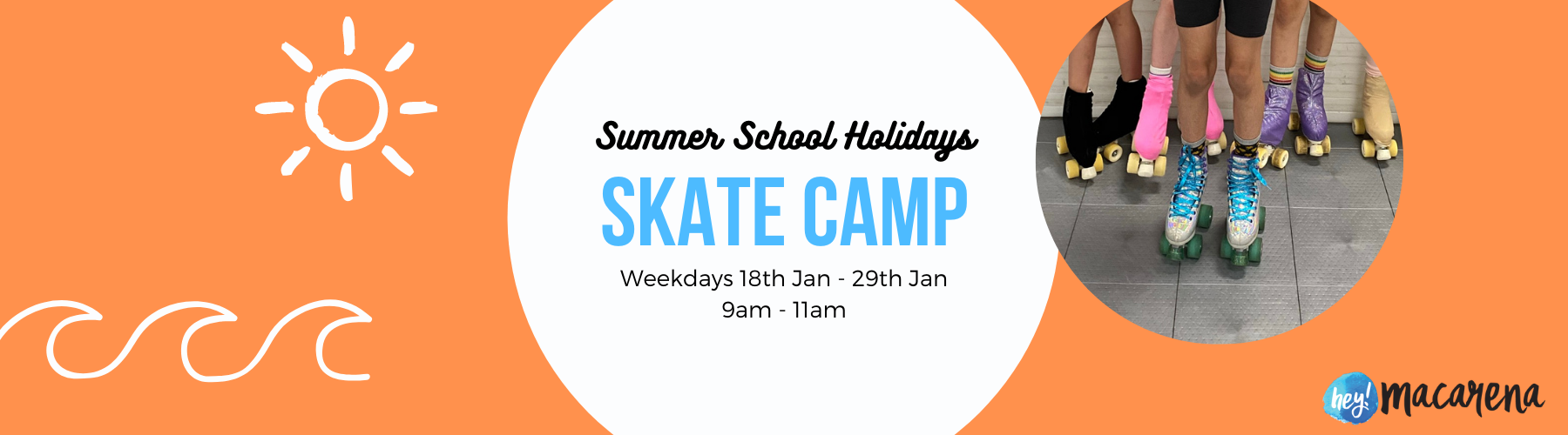 school holiday roller skate camp for kids