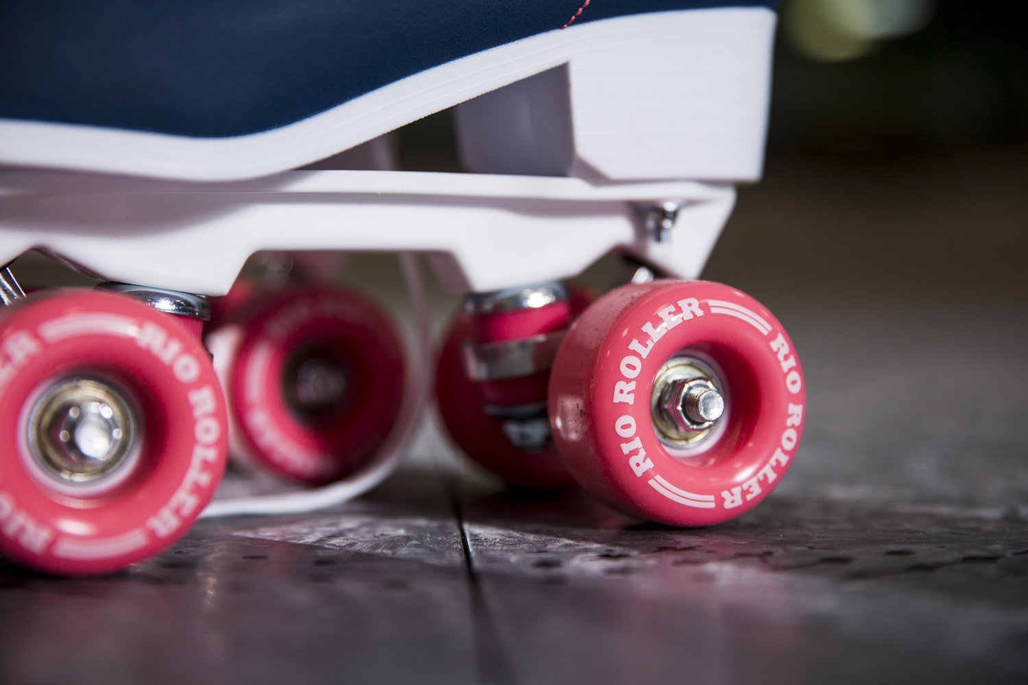 photoshoot close up of wheels on the new rio roller skates