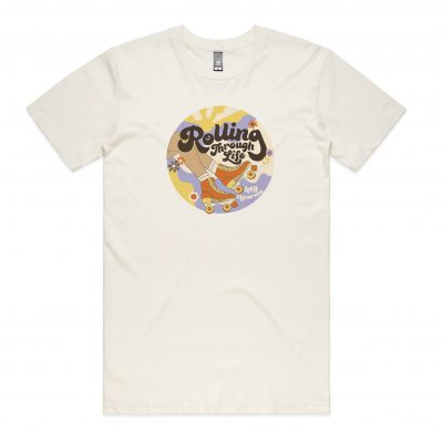 hey macarena roller skating t shirt inspired by 70s aesthetic